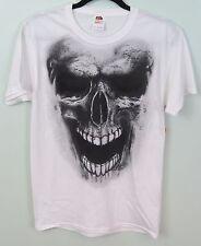 Men's FTL White Skull Skeleton T-Shirt Size S 34/36 NEW