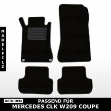 Fußmatten Passend für Mercedes CLK W209 Coupe (2002-2010) - Schwarz Nadelfilz 4t