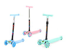 LED Scooter for Kids 3 Wheel Glider with Kick Go Lean 2 Turn 3 Colors Folding