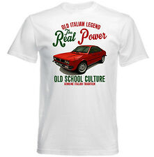 VINTAGE ITALIAN CAR LANCIA BETA COUPE NEW COTTON T-SHIRT