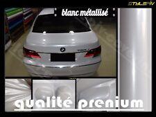 Film vinyle covering blanc brillant métallisé 152 x 50 cm thermoformable adhesif