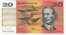 Australia 'Johnston - Fraser' OCRB Serials $20 (1985), Uncirculated