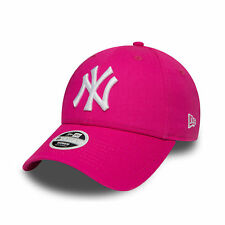 New Era MLB Womens Fashion Essential New York Yankees Cap Pink White OSFA