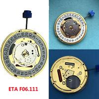 ETA F06.111 Movimiento de Cuarzo Fecha en 3'/6' Reloj Parte + Batería 371 & Stem