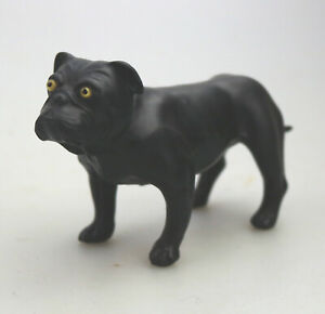 A scarce antique Wedgwood black basalt Bulldog modeled by Ernest Light C.1913+