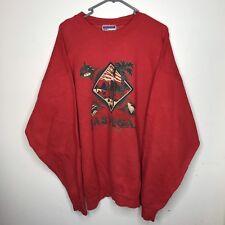 Hanes Vintage Las Vegas 90s Red Jumper Sweatshirt