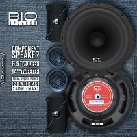 "CT Sounds Bio 6.5"" Inch Component Full Range Car Audio Doors Speakers Comp Set"