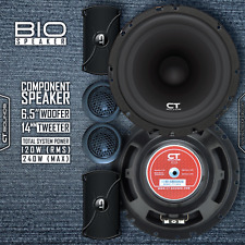 "CT Sounds Bio 6.5"" Inch Component Full Range Car Audio Doors Speakers Comp Set"