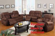 Sofa Set full Microfiber 2 Pcs Furniture Living room set Reclining sofa Loveseat
