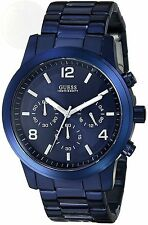 GUESS Men's U0123G3 Blue Iconic Stainless Steel Chronograph Watch