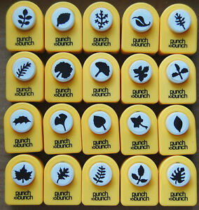 Small Leaf Shapes Paper Punches by Punch Bunch Many Styles To Pick From