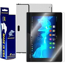 ArmorSuit MilitaryShield Sony Xperia Tablet S Screen + White Carbon Fiber Skin!