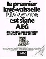 PUBLICITE  1970   AEG  lave vaisselle