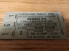 Humble Pie Ticket Stub 1972