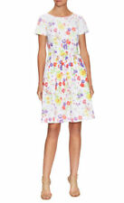 NEW Oscar de la Renta Women's Cotton Floral Print Fit And Flare Dress- 0 $1,690