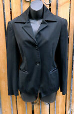 ROMEO GIGLI WOMENS BLACK JACKET VINTAGE SZ 42 LINED 2 BUTTON CLOSURE COLLARED