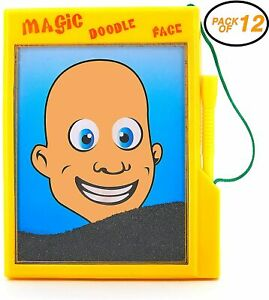 12 Magic Doodle Face - Child Magnetic Draw Board Puzzle Game Classic Toys (1 dz)