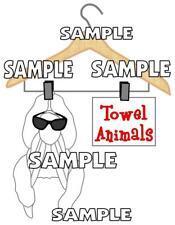 Disney Cruise Towel Animals Monkey Scrapbook Paper Die Cut Piece