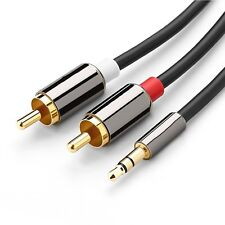 3M Premium Gold Plated 3.5mm Male To 2 RCA Male Aux Auxiliary Stereo Audio  a