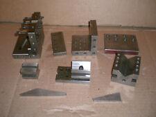 Lot Of Precision Angle Plates V Blocks And More