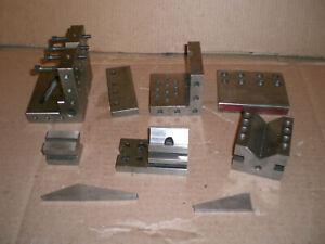 Lot of precision angle plates V-Blocks and more
