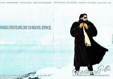 PUBLICITE ADVERTISING 046  1987  Canadienne griffe fourrures ( 2p)  Dior Furs