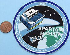 NASA STICKER vtg SPARTAN HALLEY '86 GODDARD Space Flight Ctr - U of COLORADO