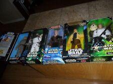 """5 LOT Star Wars 12"""" FIGURES Han Solo & Luke Skywalker Anakin +  (CALJEFF)"""