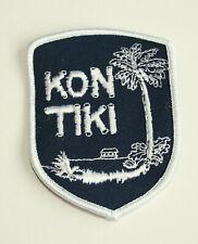 Vintage 1970s Island of Kon Tiki Tourist Cloth Patch NOS NEW