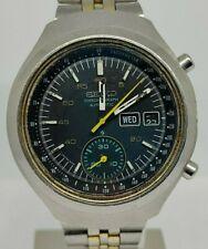 Seiko 6139 7160 HELMET DARTH VADER chronograph  Automatic watch Tachymeter