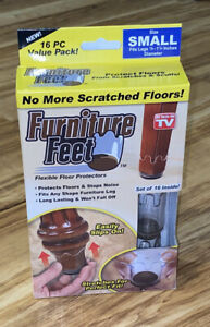 Furniture Feet - Flexible Floor Protectors - Set of 16 Size Small -A34