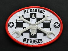 My Garage My Rules,Patch,Mechanic,Aufbügler,Aufnäher,V8,V2,Badge,Iron On
