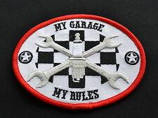 My Garage My Rules,Patch,Mechanic,Aufbügler,Aufnäher,V8,V2,Badge,Iron On