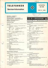 Telefunken Service Manual Schaltplan concertino hifi 401  B1453