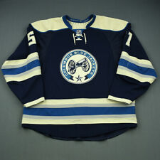 2014-15 Fedor Tyutin Columbus Blue Jackets Game Worn Hockey Jersey MeiGray NHL