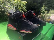 2014 Nike Air Jordan 6 VI Retro Black Infrared 384664-023 Size 8.5