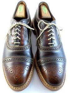 "Allen Edmonds ""STRANDMOK"" Men's Leather Cap-Toe Oxfords 10.5 D Brown USA (594)"
