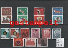 Germany Federal Frg Vintage Yearset Yearset 1967 Postmarked Complete Complete