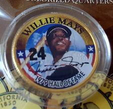 WILLIE MAYS NEW Golden Baseball Legends 24KT Gold Plated 1979 HOF Quarter GIANTS