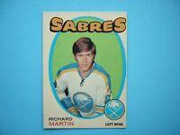 1971/72 O-PEE-CHEE NHL HOCKEY CARD #161 RICHARD MARTIN ROOKIE EX++ SHARP!! OPC