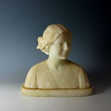 Alabaster Sculpture of a Young Girl by Umberto Stiaccini Florence