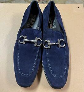 Authentic Salvatore Ferragamo men shoes  size 10 1/2 blue