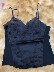 Dkny black silk viscose Camisole Top sleepwear nightwear size us8 uk12 it44