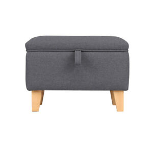 Small Fabric Storage Footstool Ottoman Footrest Dressing Table Stool Bench Seat