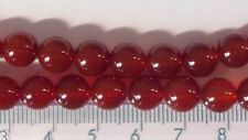 10 x 8mm carnelian round beads - beads for jewellery and crafts