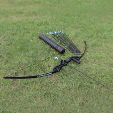 40lbs Archery Straight Bow Take Down Right Hand Fishing Bow Hunting with Arrows