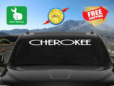 Jeep Decal | Cherokee Windshield Window Banner Decal Sticker Fits All