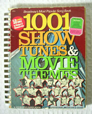 1001 Show Tunes Movie Themes Broadway Vintage Spiral Songbook Keyboard Organ