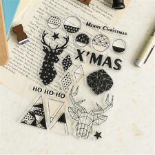 Christmas Deer Clear Transparent Silicone Stamp Scrapbook DIY Album Cards DecorF