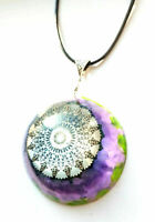 necklace Orgone Orgonite pendant Mandala Chakra, stones and crystals,boho hippie